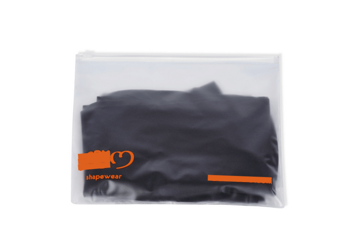 Matte Plastic Bag with Logo and Zipper for a Shapwear Client