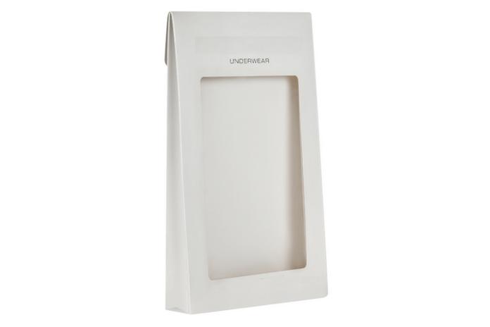Mens Underwear Carton Triangle Carton Box with See Through Window
