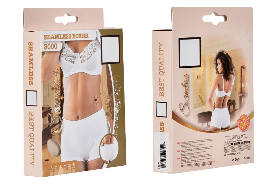 Seamless Shapewear Boxer Boy Shorts in Carton Packaging