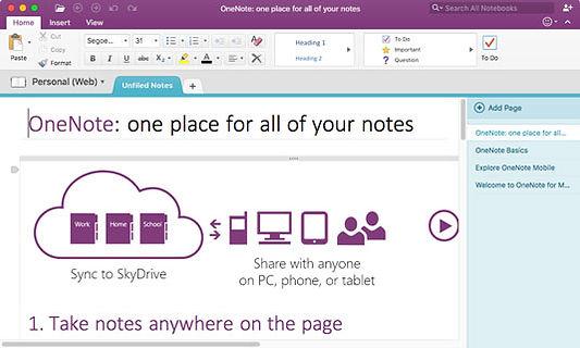 Microsoft Onenote notebook