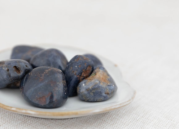 Blue Sapphire Tumbled Stone