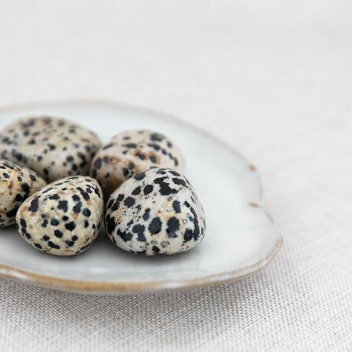 Dalmatian Jasper Tumbled Stone