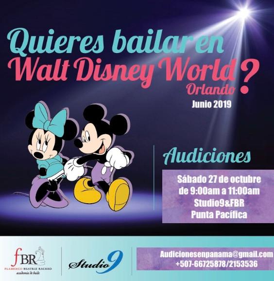 Audiciones para bailar en Disney!