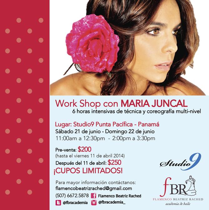 Maria Juncal, por primera vez en Panamá