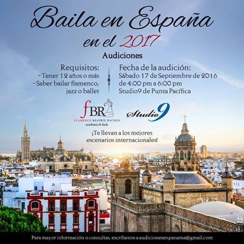 AUDICIONES: ¡Baila en España en el 2017!