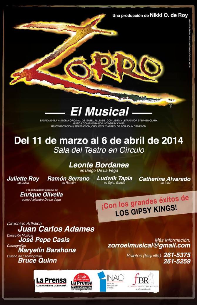 """Llega el musical """"Zorro"""" a Panamá con FBR"""