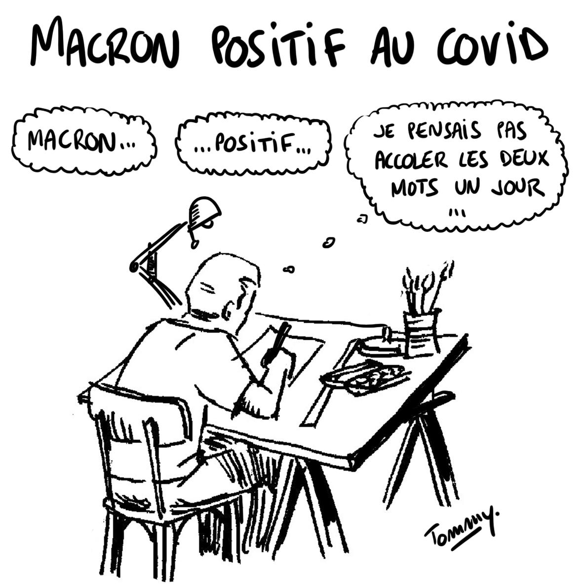 Macron positif