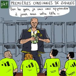 Zidane entraîneur du Real Madrid