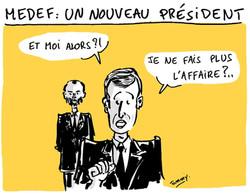 Nouveau président au MEDEF