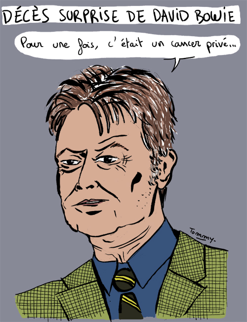Décès surprise de David Bowie