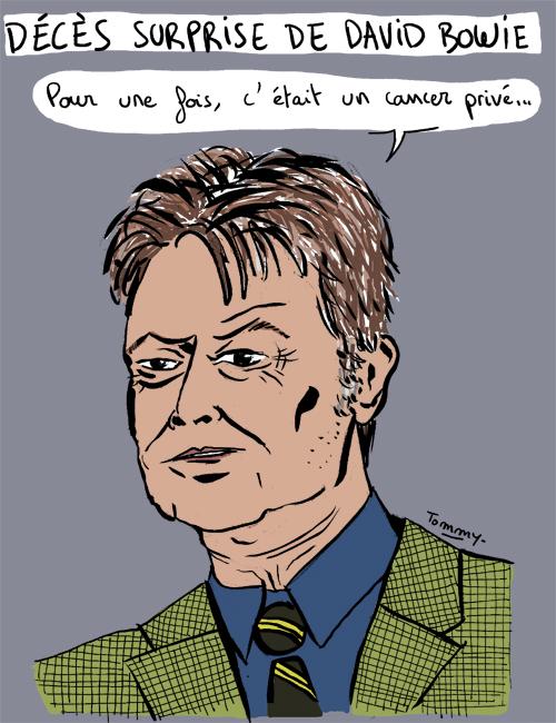 Décès surprise de David Bowie