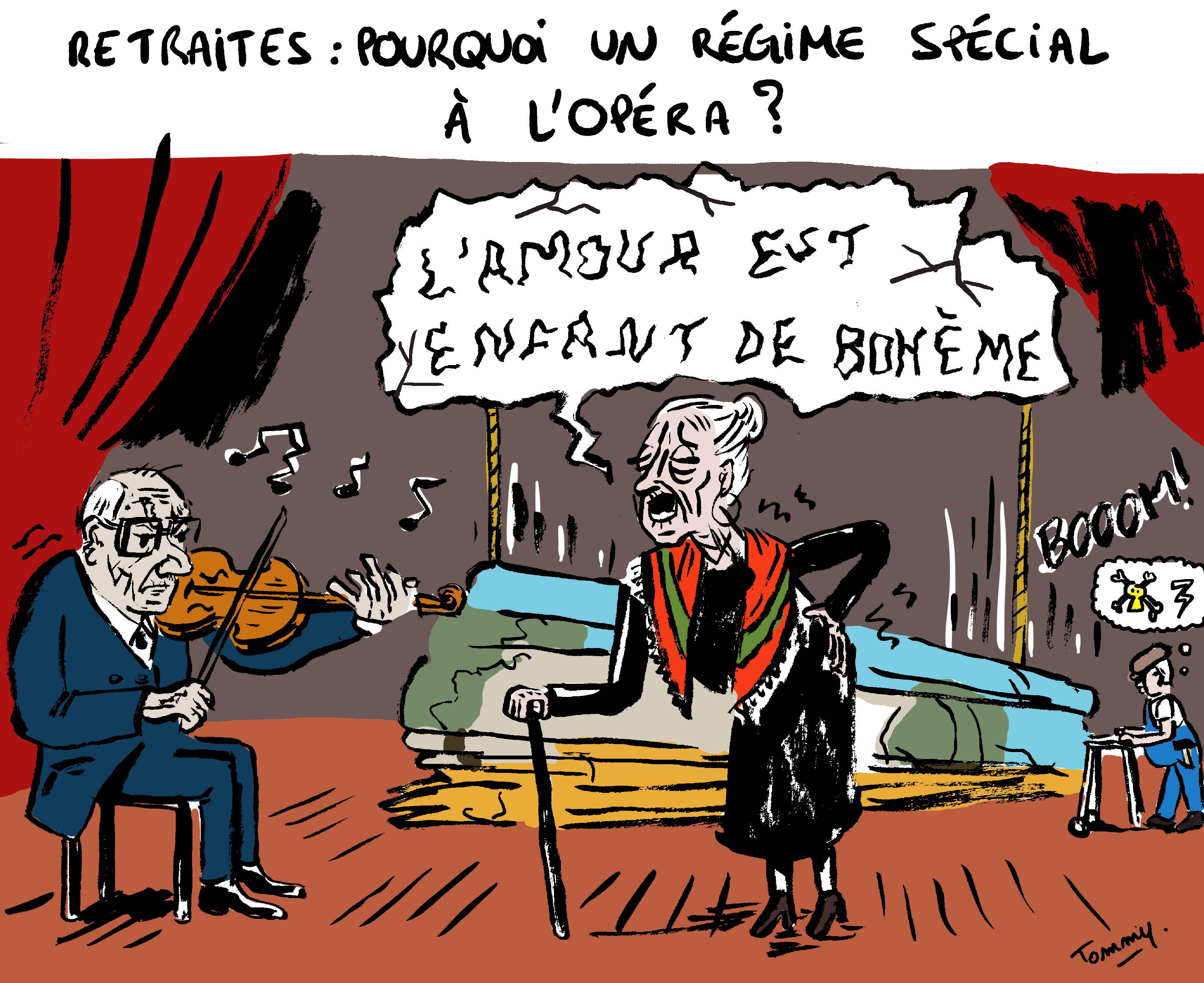 Pourquoi un régime spécial à l'Opéra