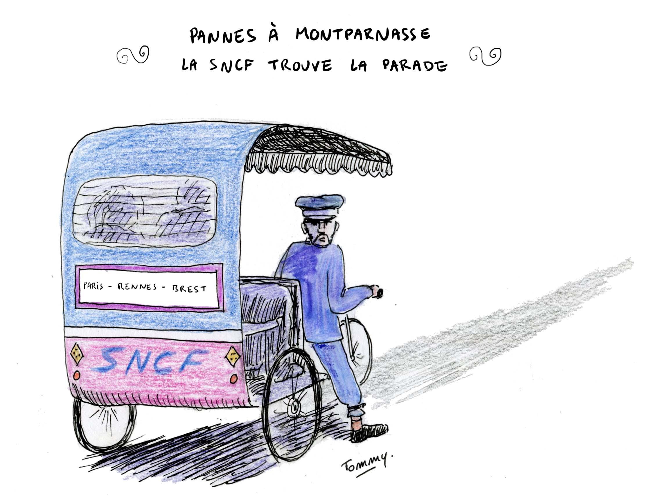 Pannes à Montparnasse