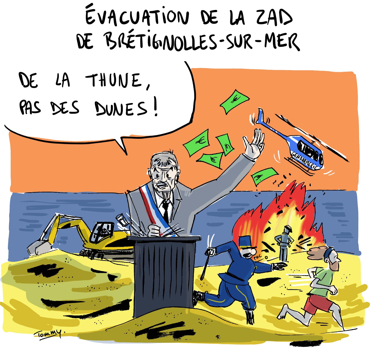Evacuation de la ZAD de la Dune