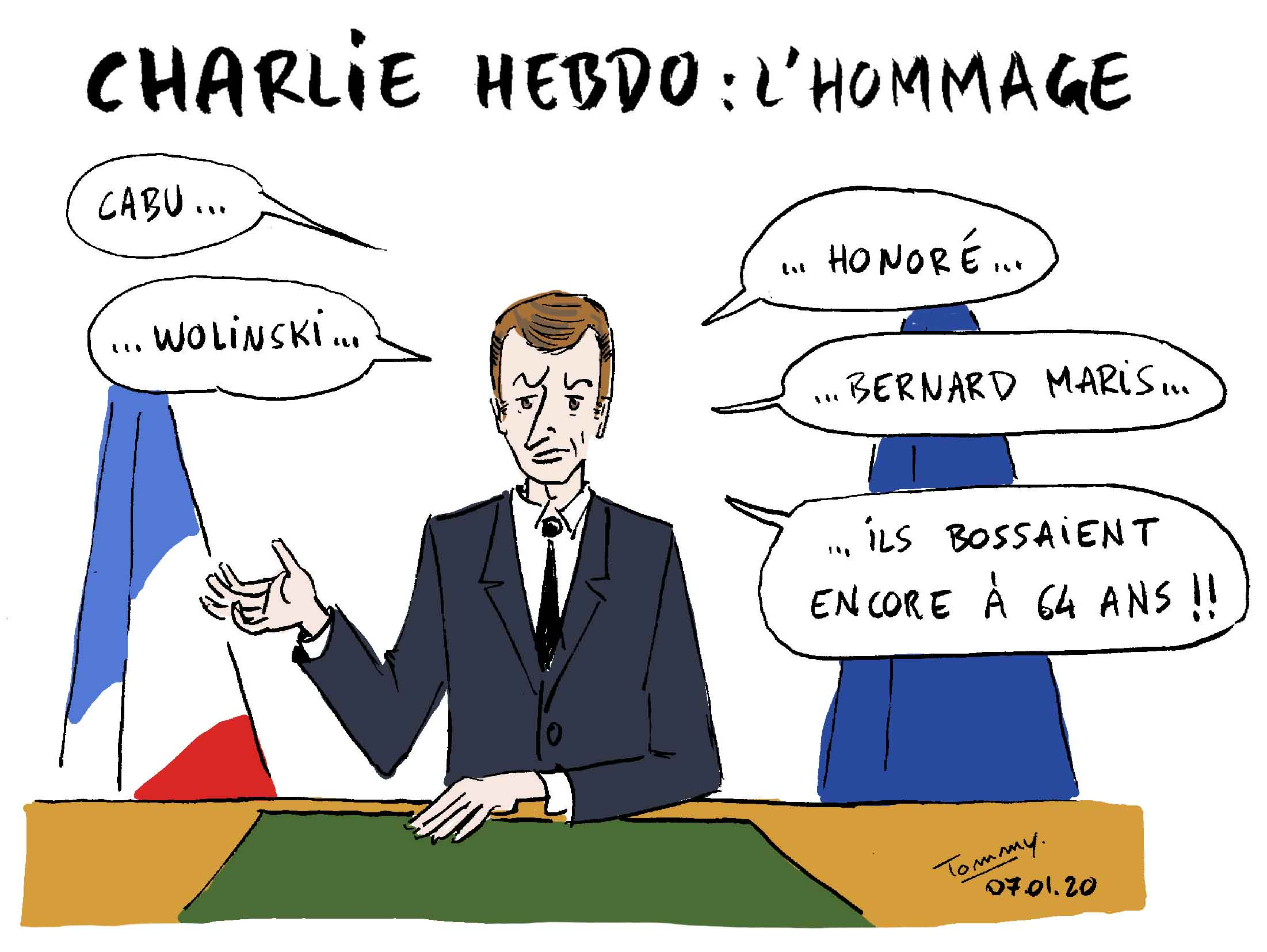 Charlie Hebdo : l'hommage