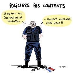 Policiers pas contents