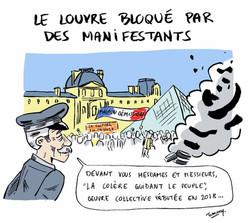 Le Louvre bloqué