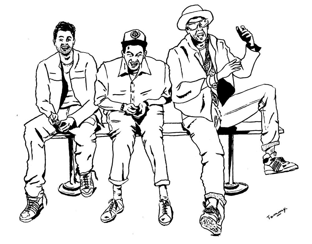 Beastie Boys encrage