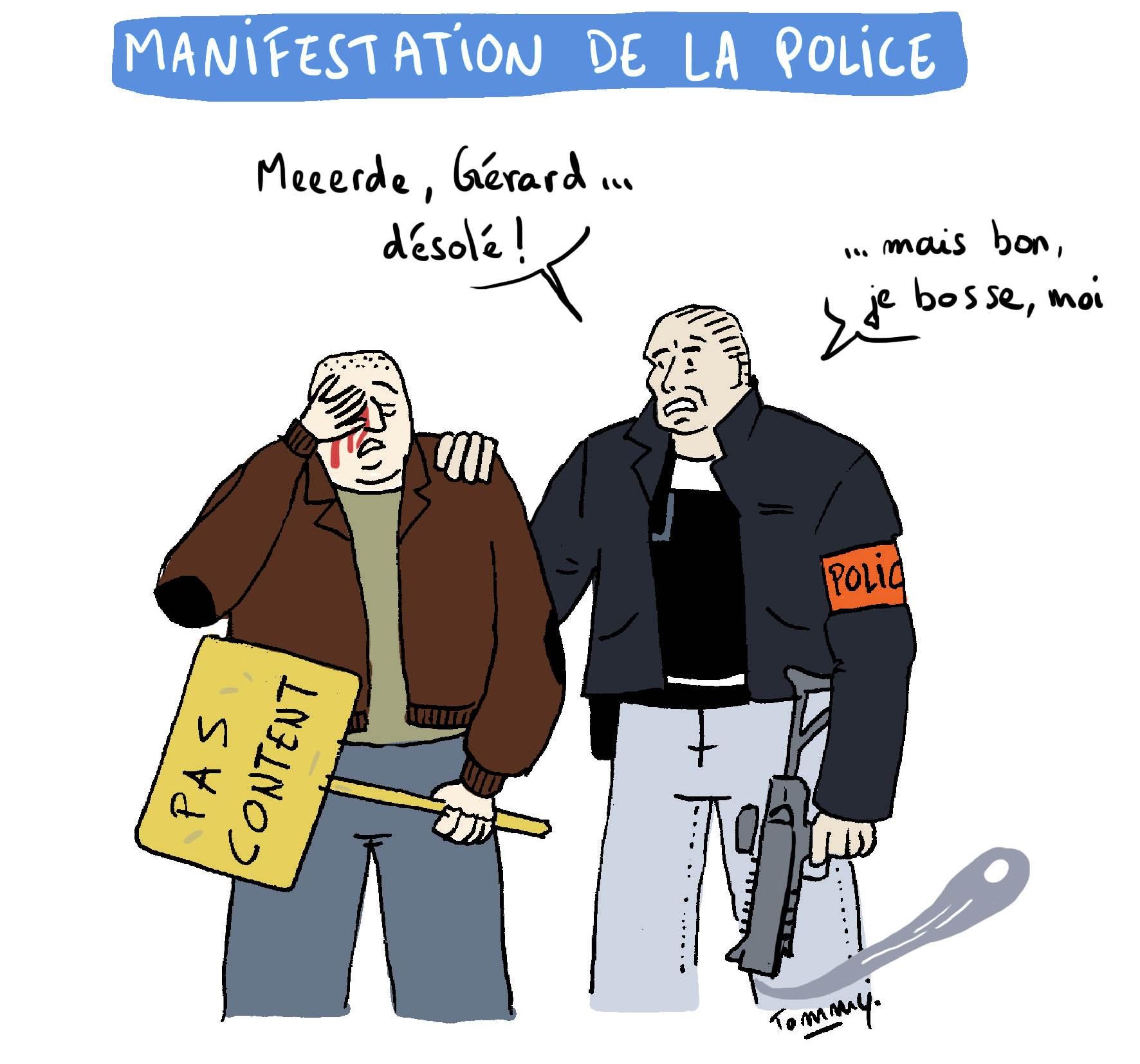 Manifestation de la police