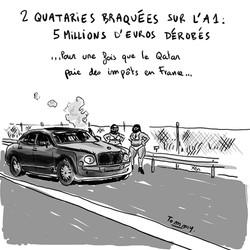 2 Qataries braquées sur l'A1