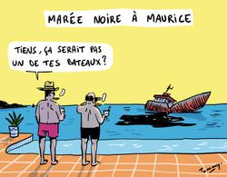 Marée noire à Maurice