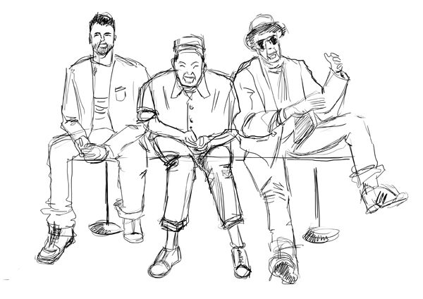 Beastie Boys crayonné
