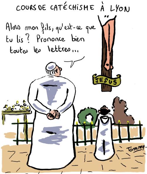 Cours de catéchisme à Lyon