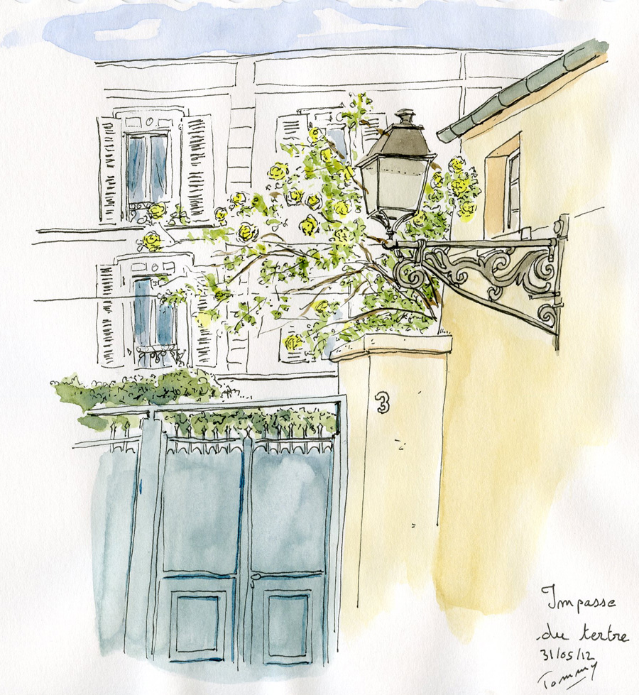 Impasse du tertre, Montmartre