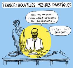 France : mesures drastiques