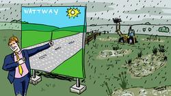 Les mensonges de la route solaire