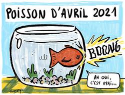 Poisson d'avril 2021