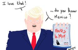 Banksy reçu par Trump