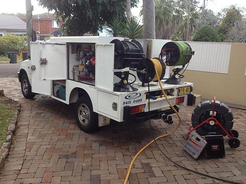 high pressure water jet blocked sewer sydney nsw