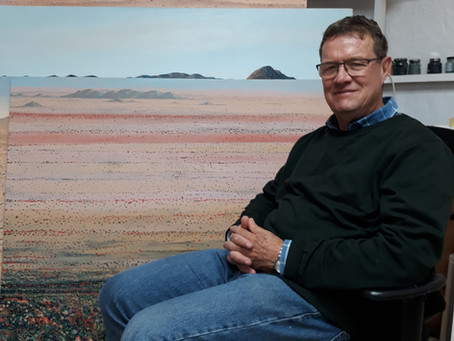 Bruce Backhouse captures the beauty of the Kalahari with paint