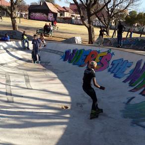Skateboarding kids are stoked
