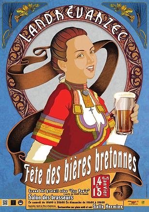 Affiche fête des bières bretonnes Landrévarzec CDF