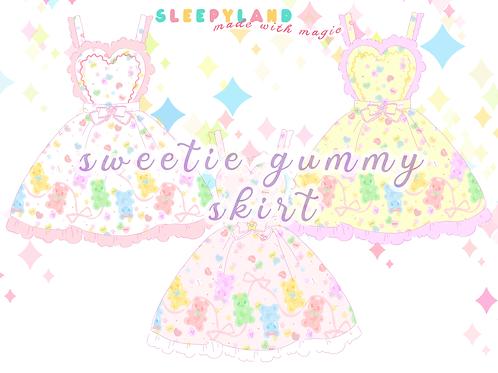 sweetie gummy apron skirt