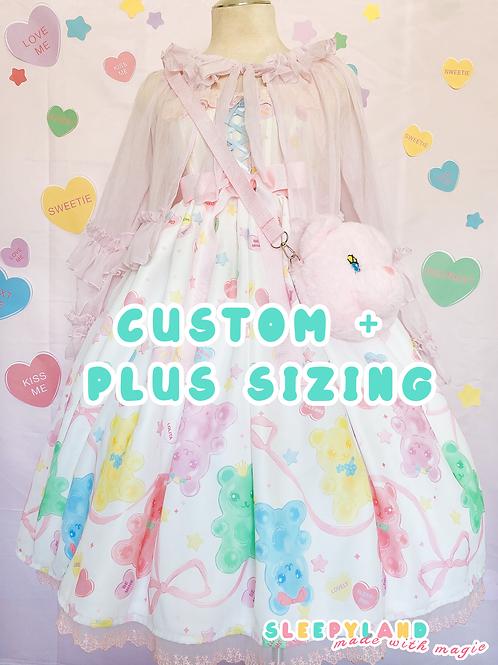 sweetie + sweetie gummy jsk custom sizing