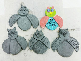 Some of the cute owls from camp today, led by our fabulous instructor, Noelle! Call the shop to sign up for a clay class.jpg