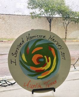 We have the bravest customers! This one took on hurricane conditions to come and create a masterpiece with us! 💧☁🎨 #ceramiclodge #roundrockt