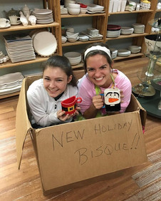 Come in and paint some of our new holiday pottery!!!!