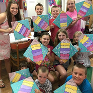 Teaching these canvas painting cuties at Ceramic Lodge Camp was pretty cool! #almostallalliteration