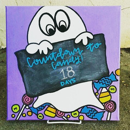 BOO!! Just a cute reminder that there are 18 days until Halloween! Drop your littles off tomorrow (Saturday) morning to paint this one of a_