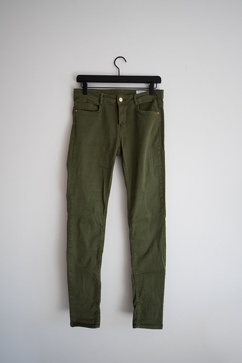Zara TRF Green Denim Jeans