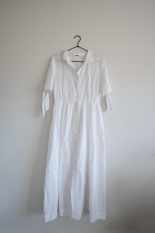 White Linen Tea Dress