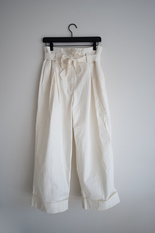 H&M White Paperbag Pants