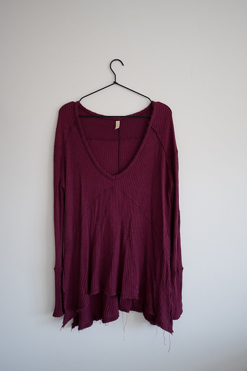 Free People Maroon Top