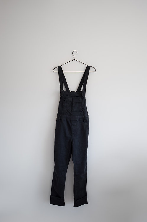 Free People Black Overalls