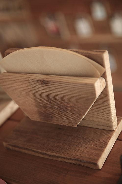 木製コーヒーフィルタースタンド