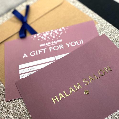Halam Salon Gift Voucher